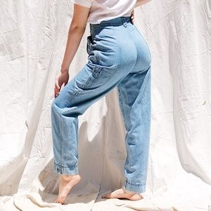 Vintage Pleated High Waisted Mom Jeans